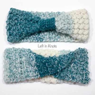 Free Crochet Headband Patterns from Left in Knots