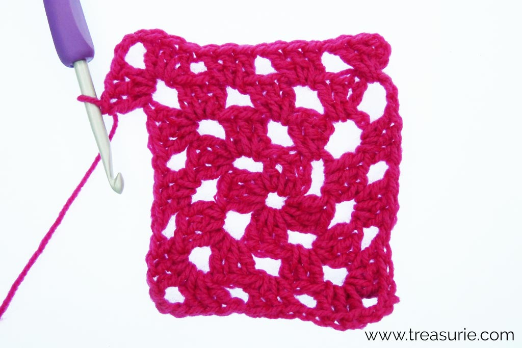 How to Crochet a Granny Square - Round 4