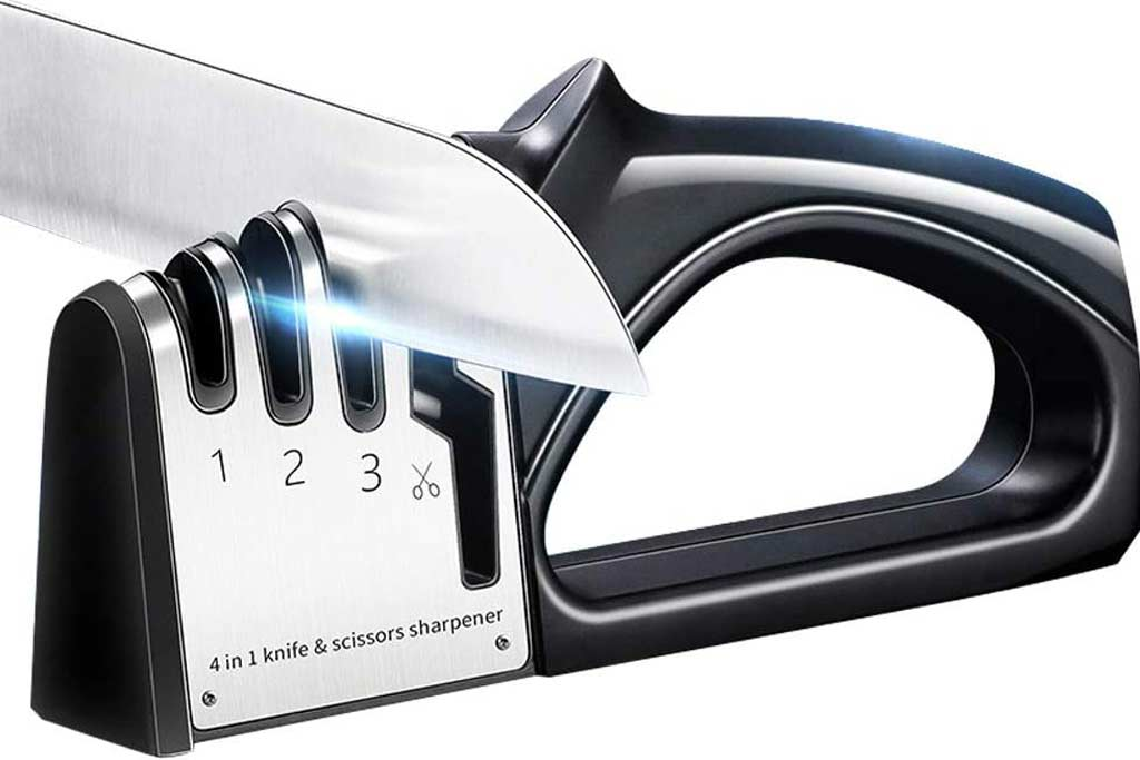 How to Sharpen Scissors with a Knife Sharpener from Amazon