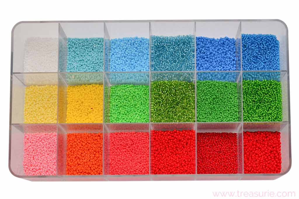 Seed Bead Sizes and Colors
