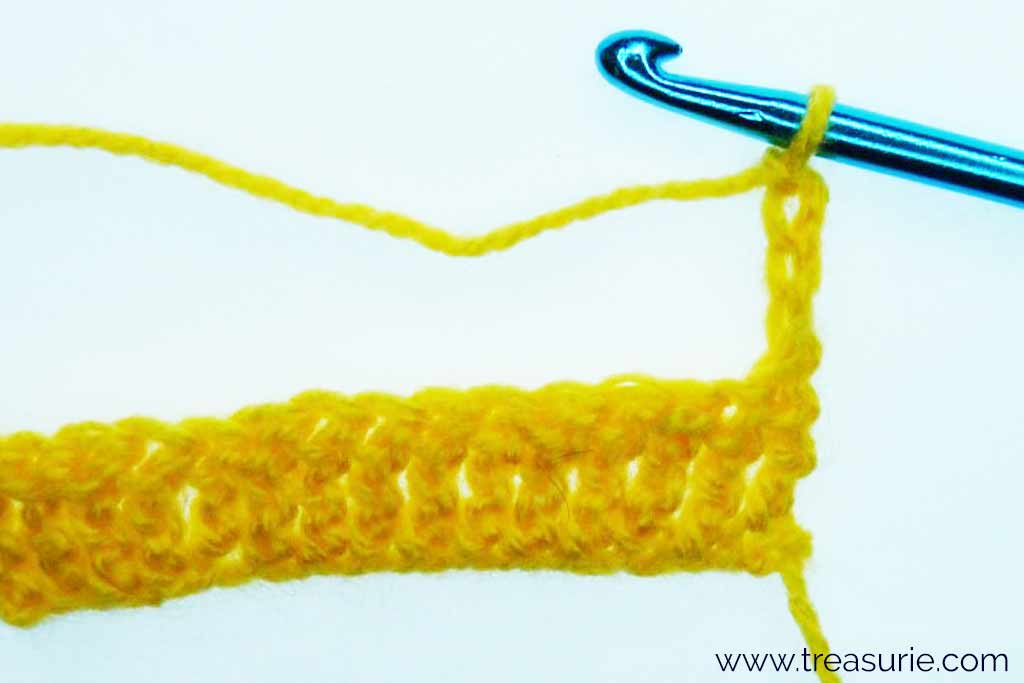 Treble Crochet Stitch - Turning Chain