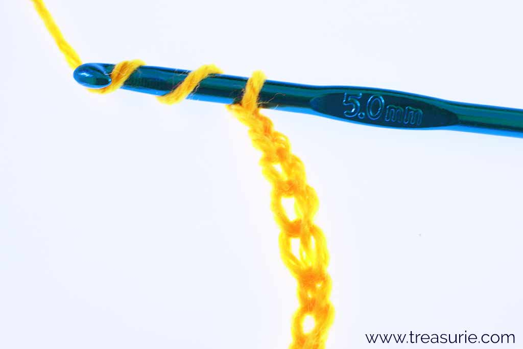 Treble Crochet Stitch - Yarn Over Twice