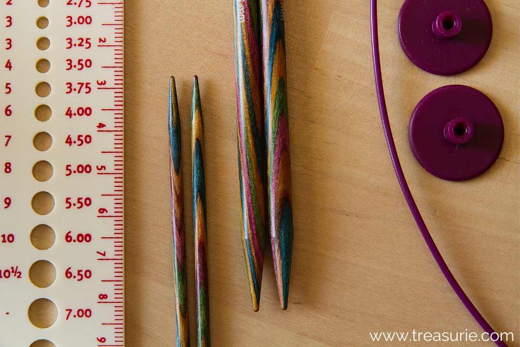 Knitting Needle Sizes Guage