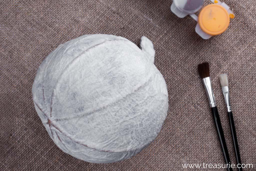 How to Make a Paper Mache Pumpkin - Smooth