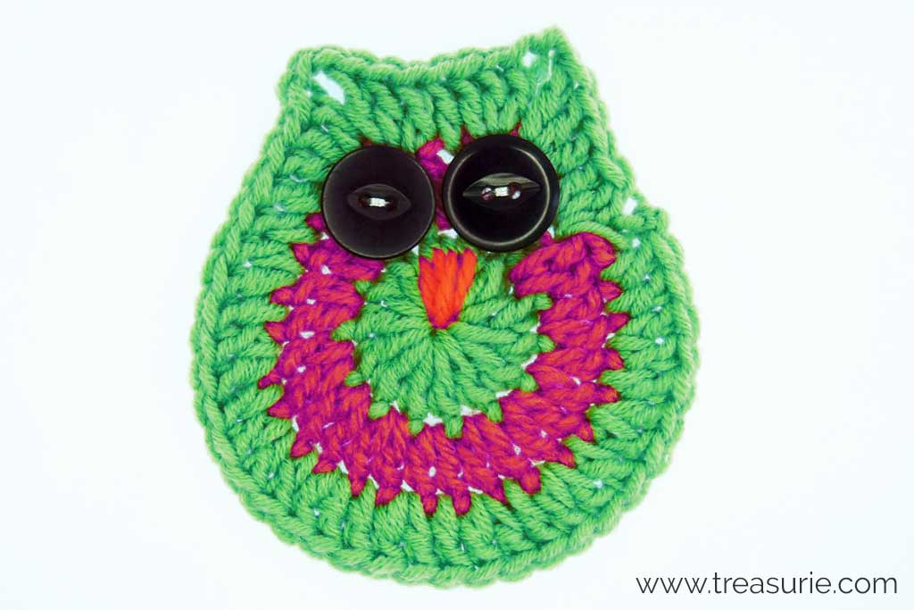 Owl Made with Crochet Circles