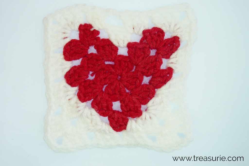 Crochet Hearts - Granny Square
