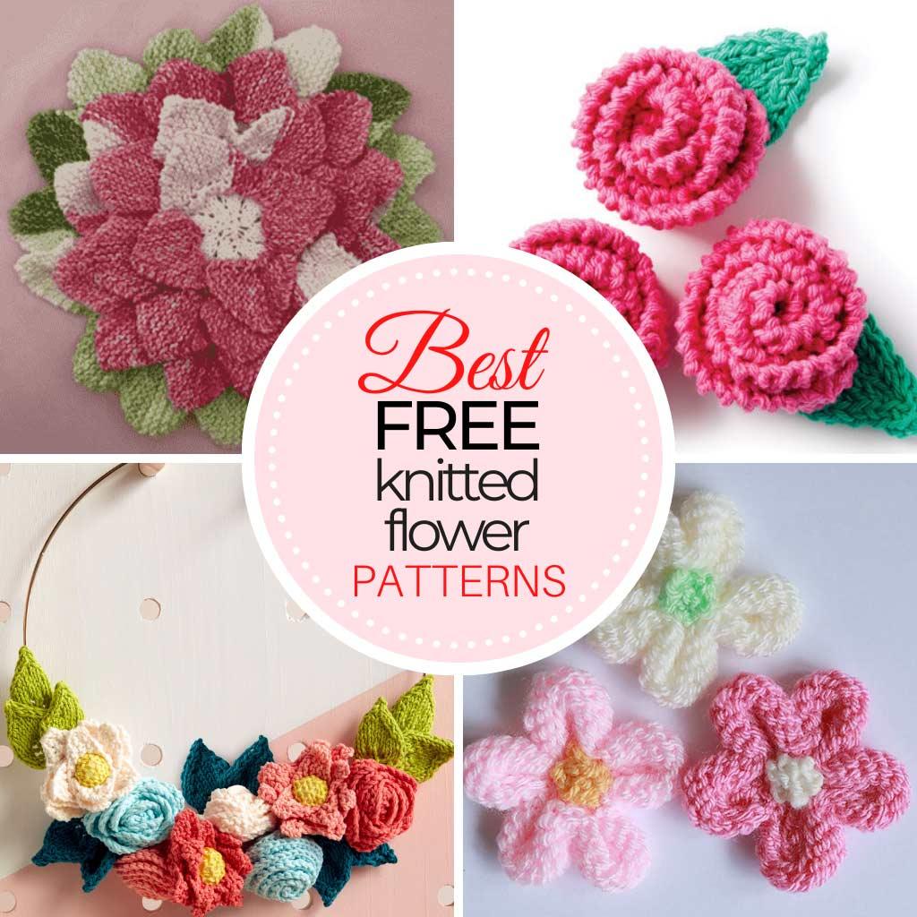 Free Knitting Flower Patterns