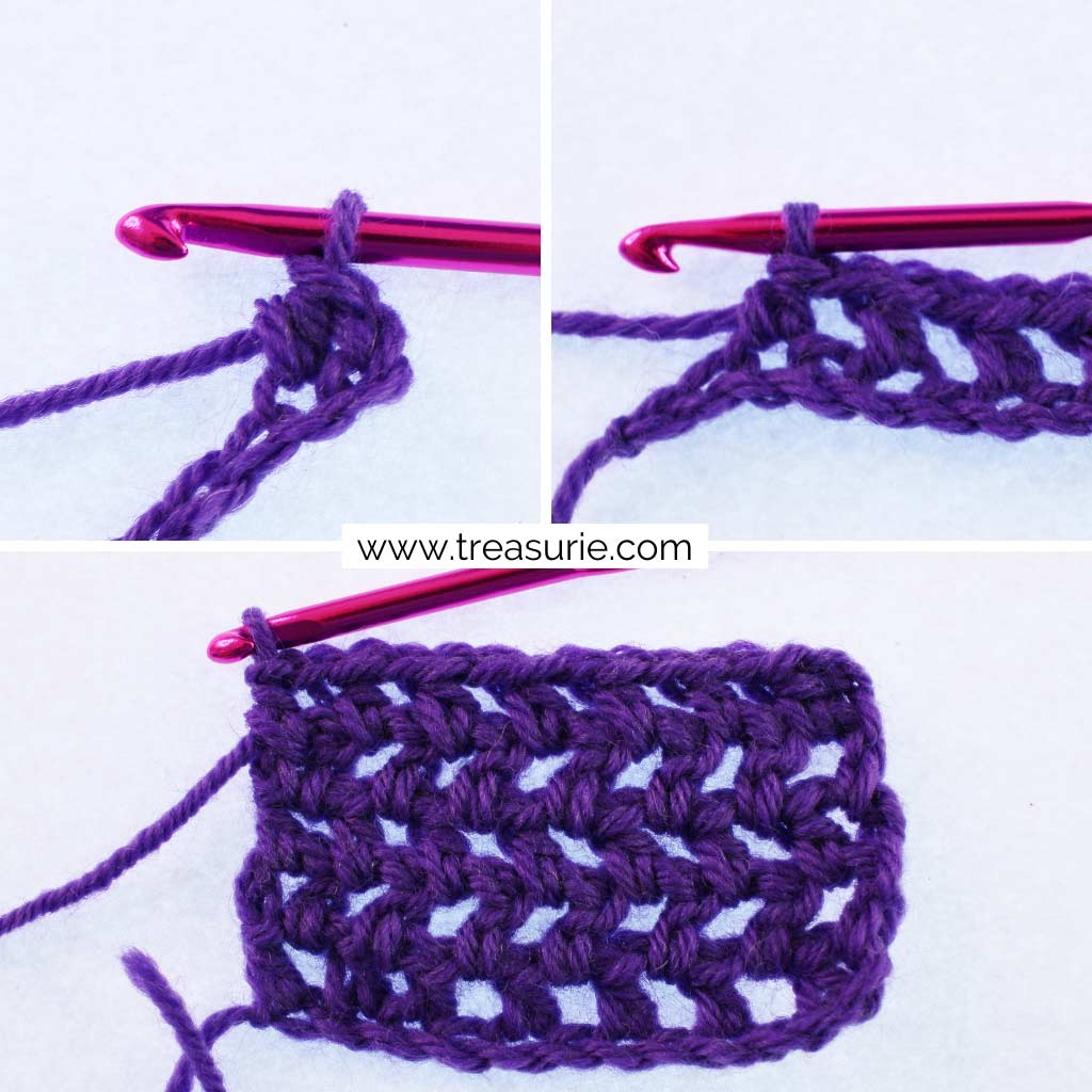 How to Half Double Crochet for V Stitch Variations