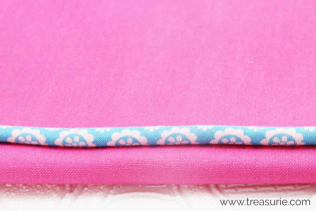 Hemming a Dress with Piping