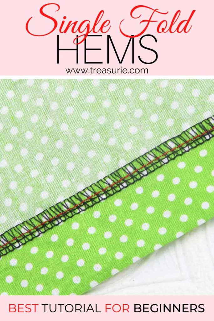 How to Sew a Single Fold Hem