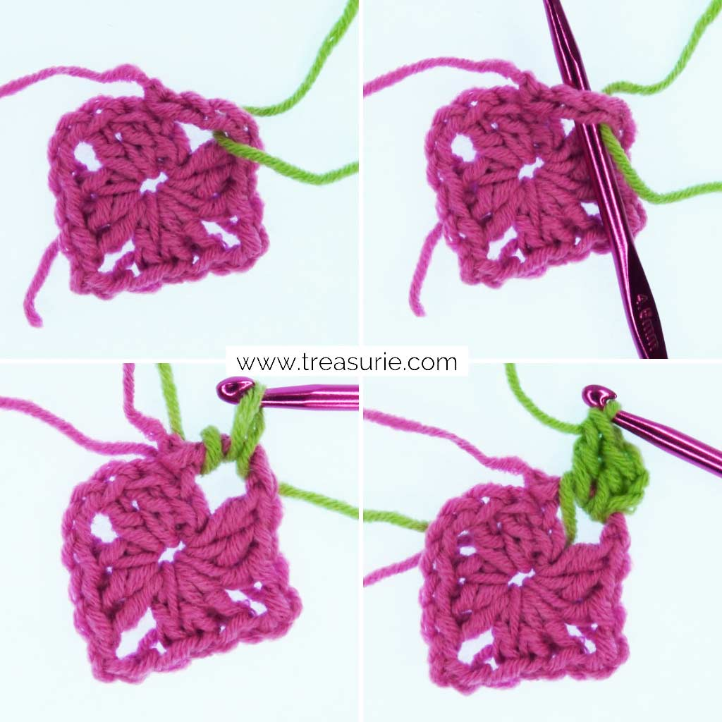 How to Change Yarn in Crochet - Granny Squares