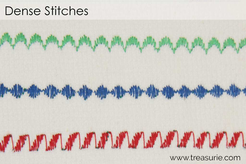 Dense Decorative Machine Stitches