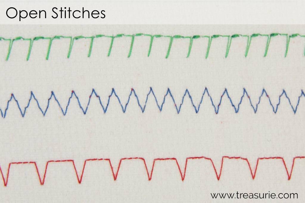 Open Decorative Machine Stitches