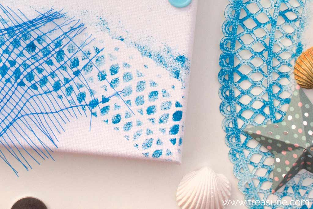 Fabric Stenciling with Lace