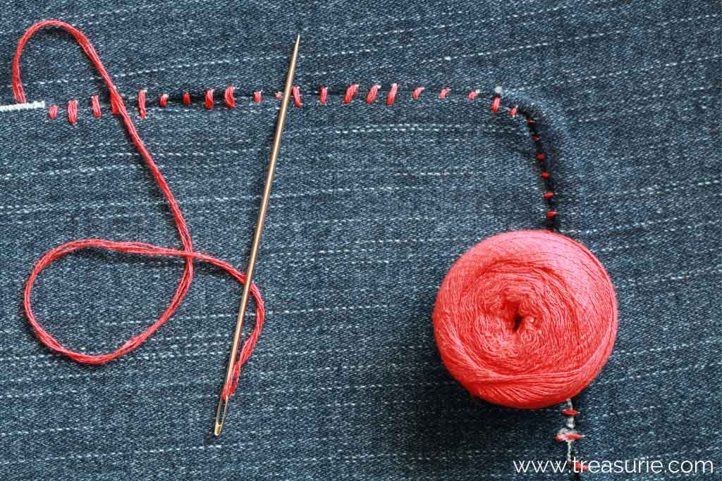 How to Fix a Hole in Jeans with Hand Stitches