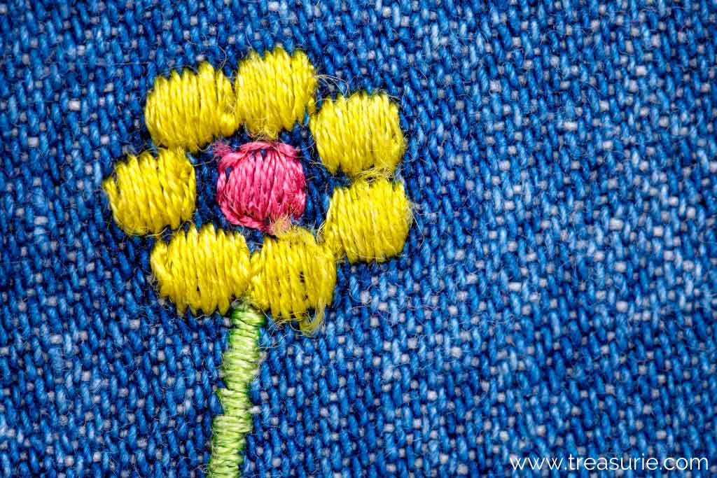 How to Fix a Hole in Jeans with Embroidery