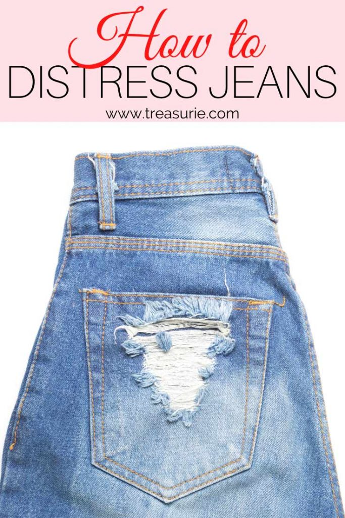 How to Distress Jeans