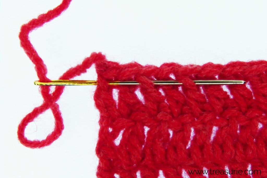 How to Finish Off Crochet - Hiding the Ends