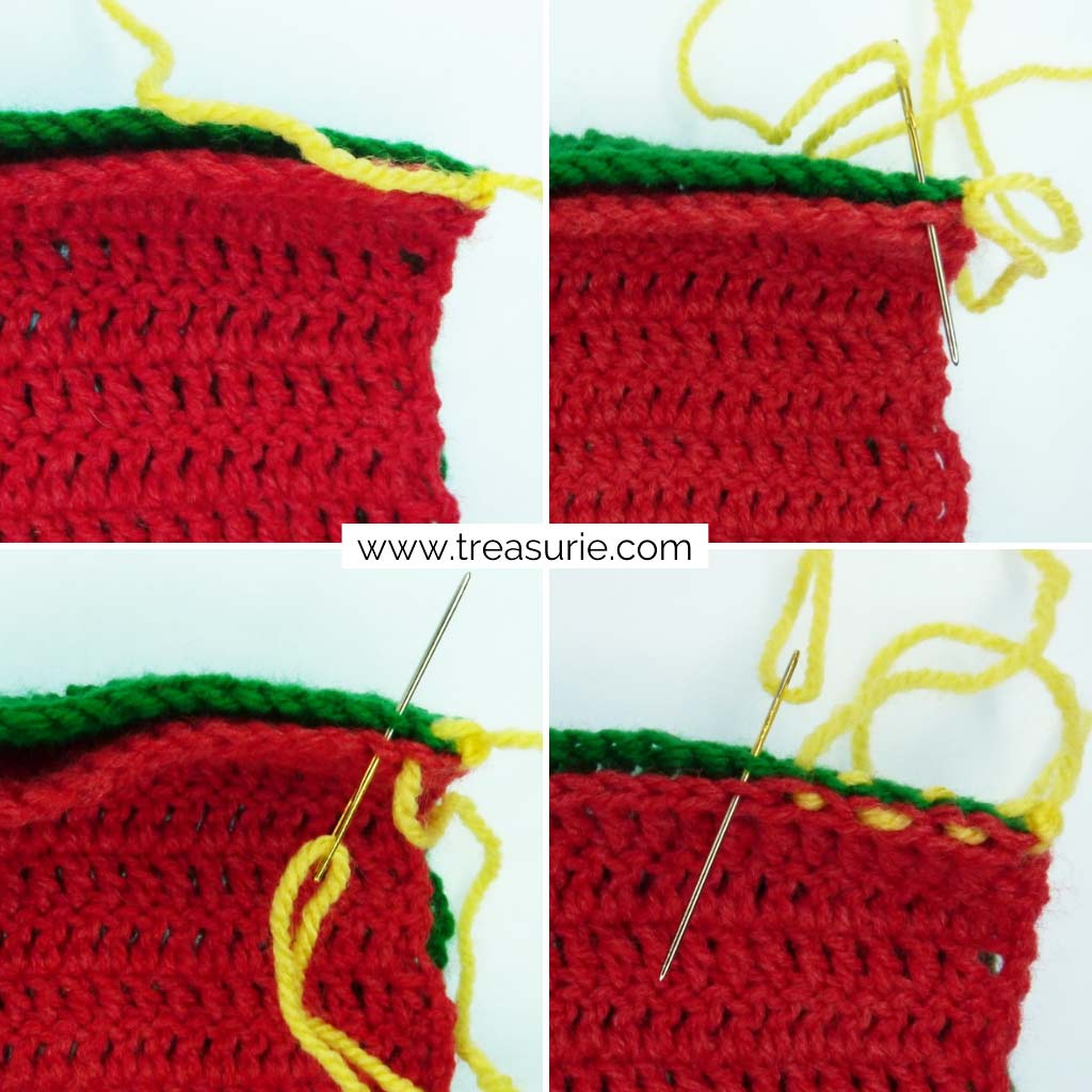 How to Finish Off Crochet - Joining with Mattress Stitch