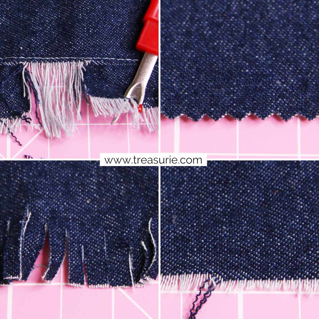 How to Distress Jeans with Fraying