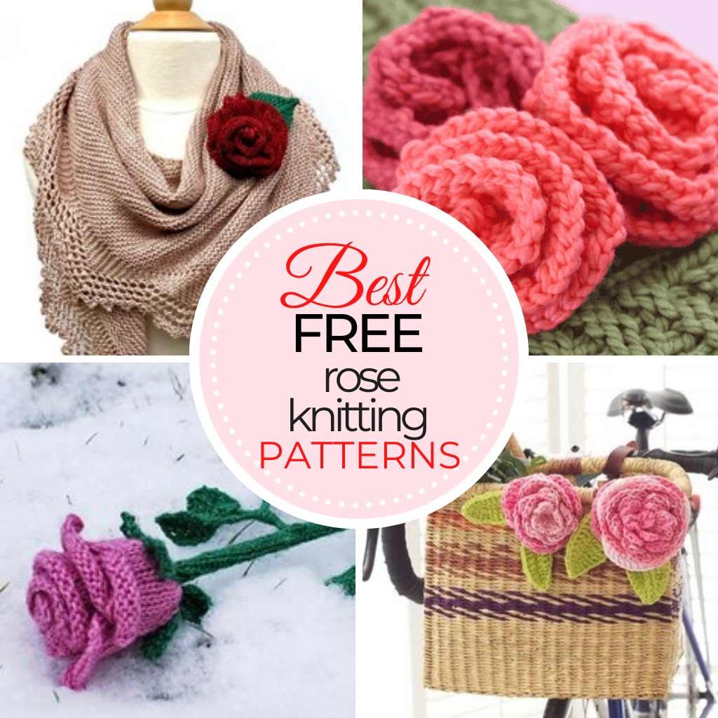 Rose Knitting Patterns