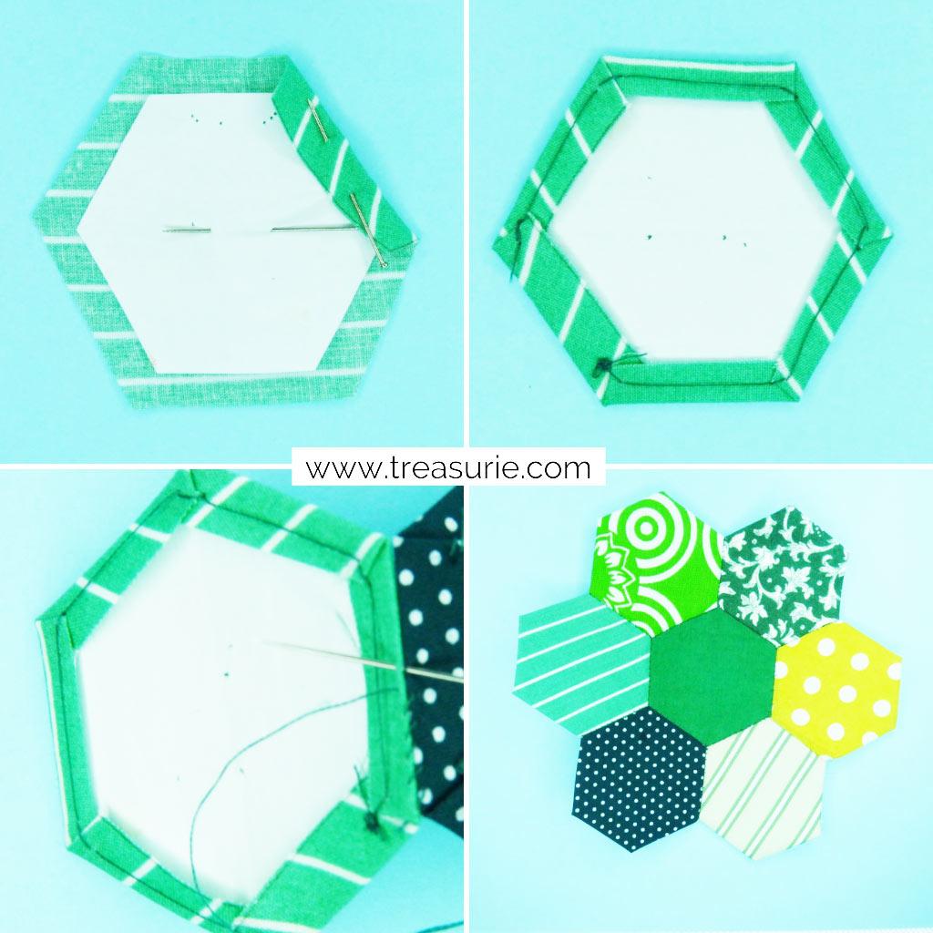 Hexagon Tree Quilt Blocks