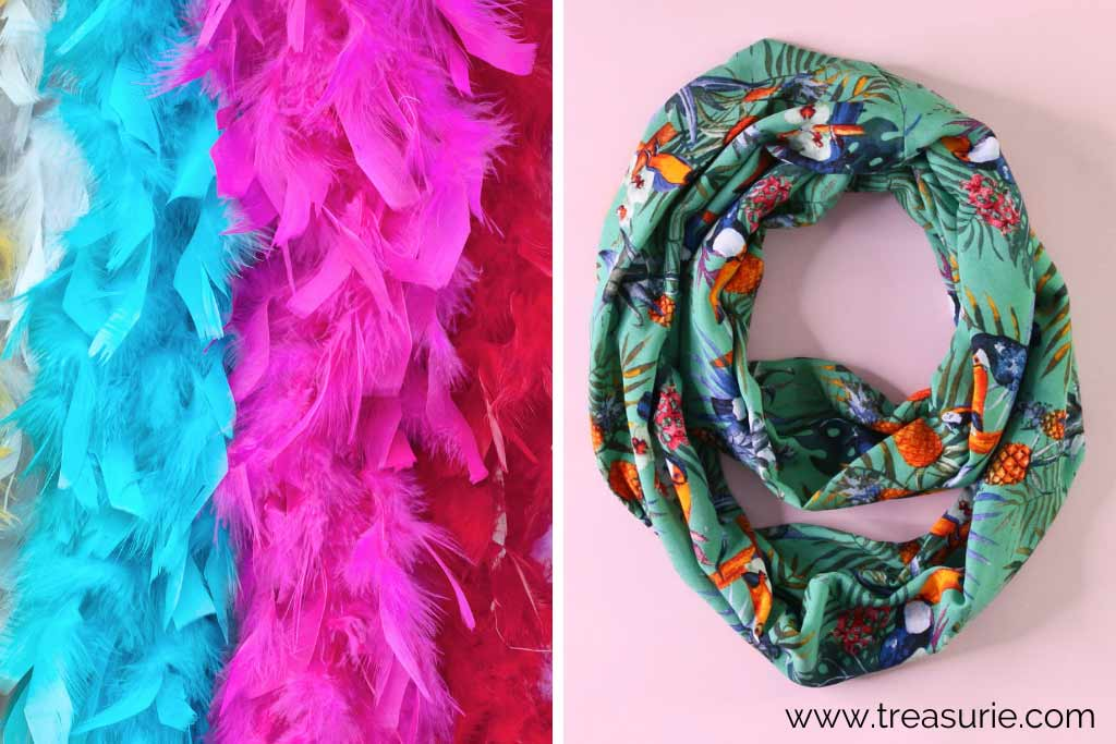 Types of Scarves - Boa and Infinity
