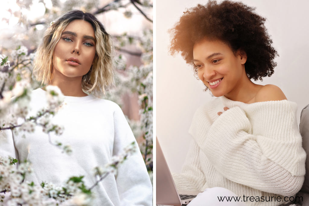Types of Sweaters - Crew and Off The Shoulder