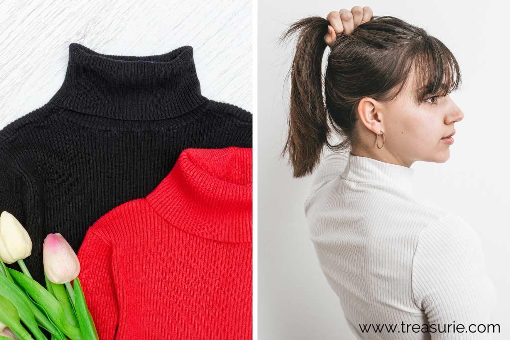 Types of Sweaters - Turtleneck and Mock Turtleneck