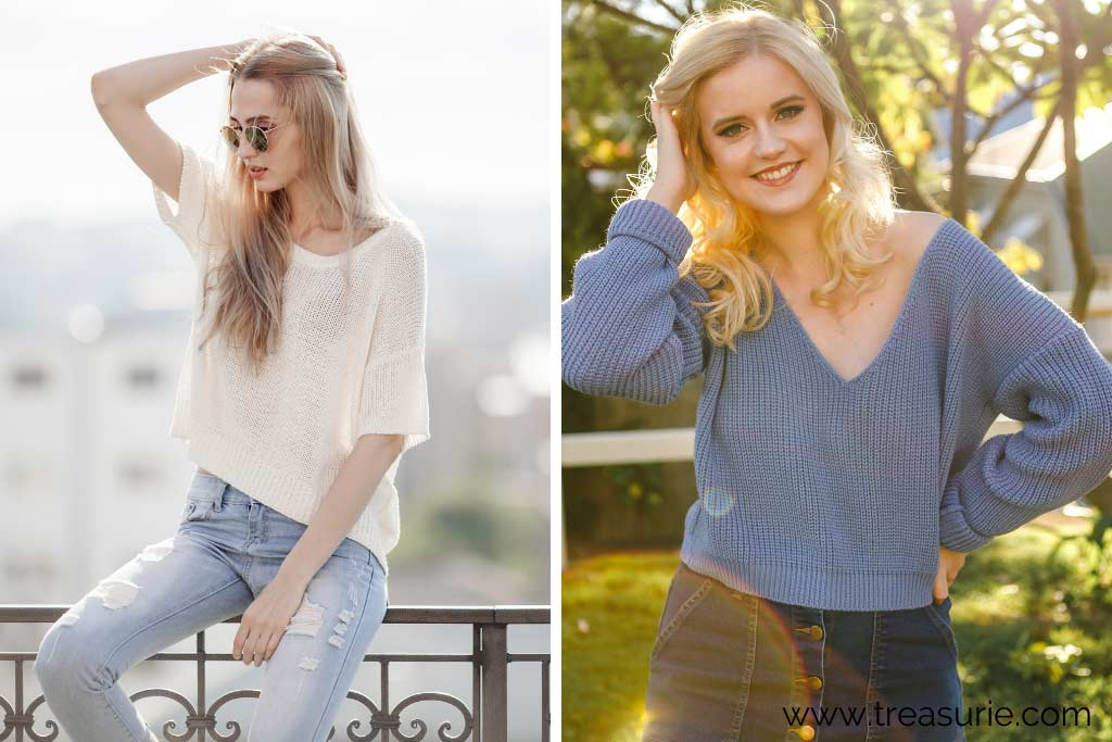 Types of Sweaters - Scoop and V-Neck