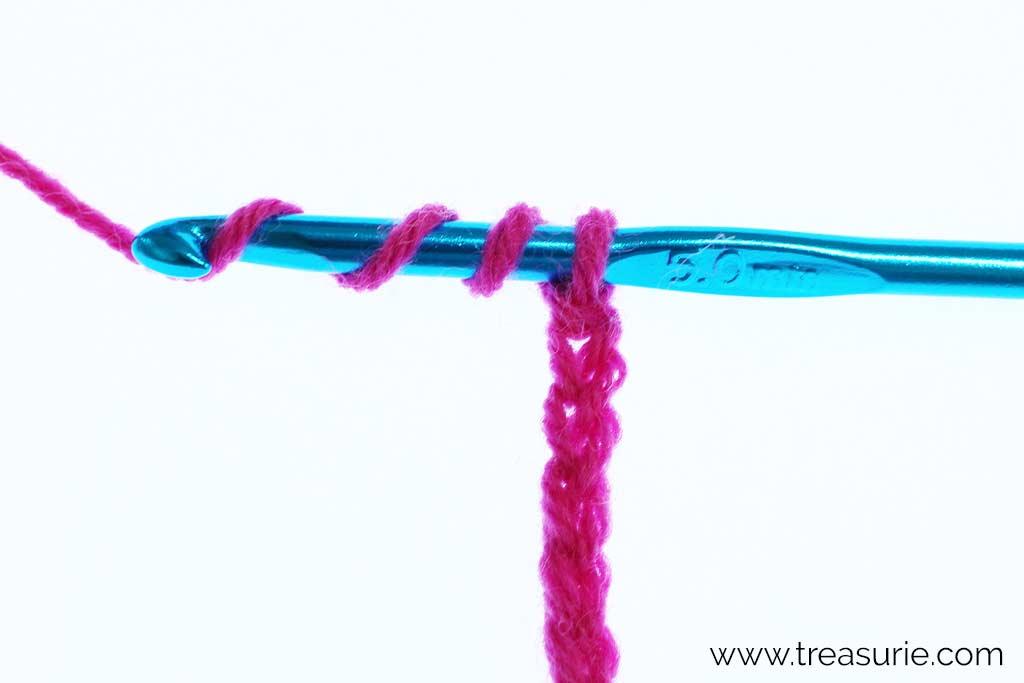 Double Treble Crochet - Yo 3 times