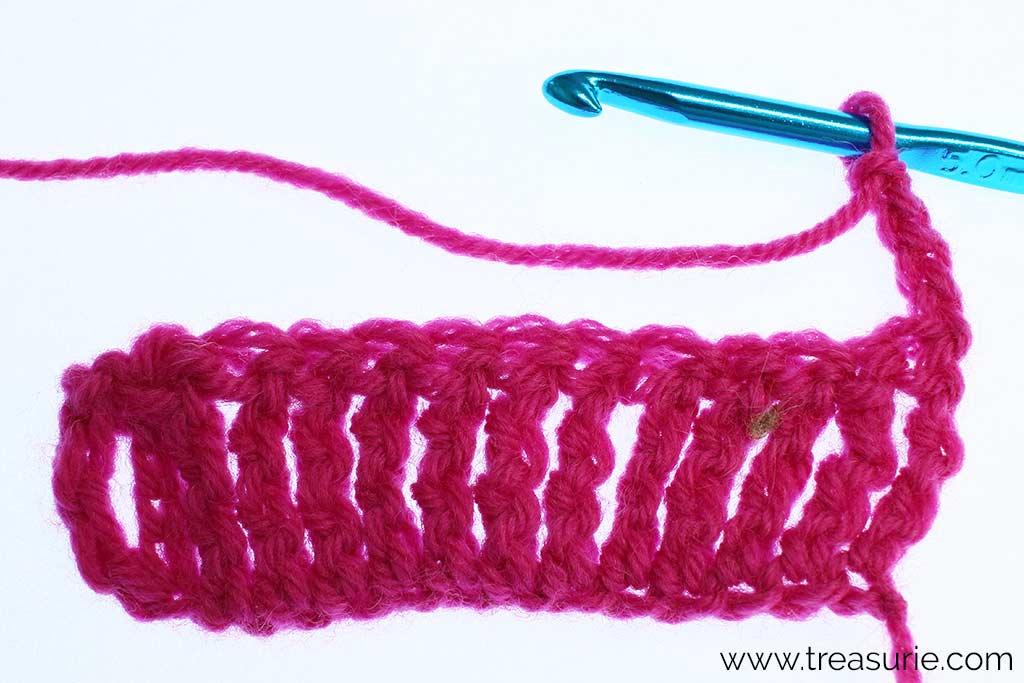 Double Treble Crochet - Turning Chain
