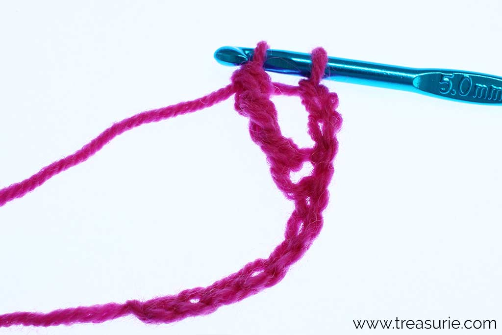 Double Treble Crochet - yo and draw through