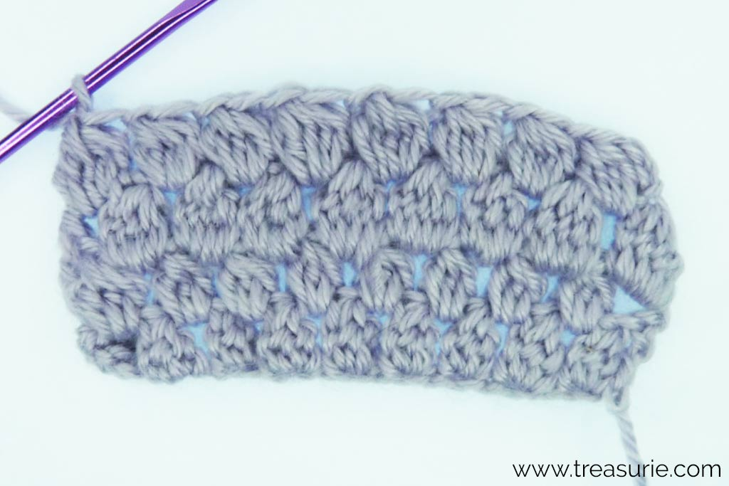 Puff Stitch Crochet - 5 stitches