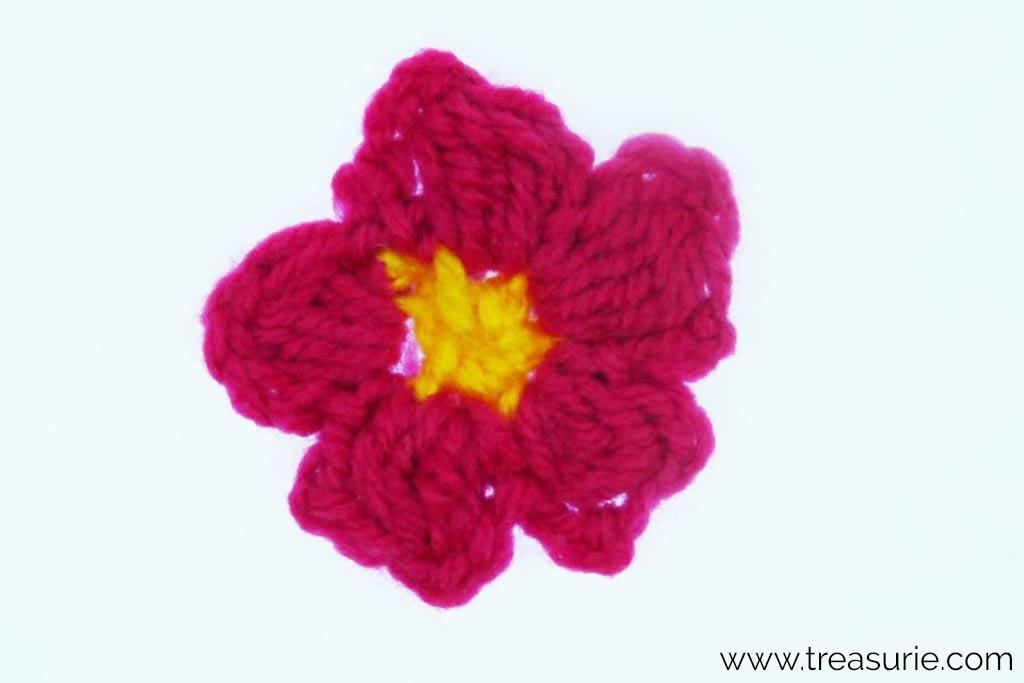 Puff Stitch Crochet - Flower