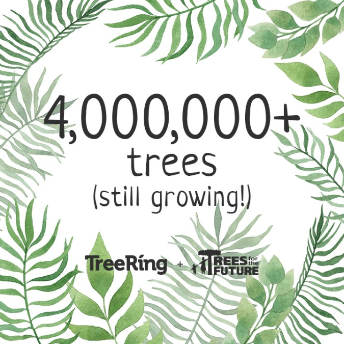 Over 4 Million Trees Planted and still growing
