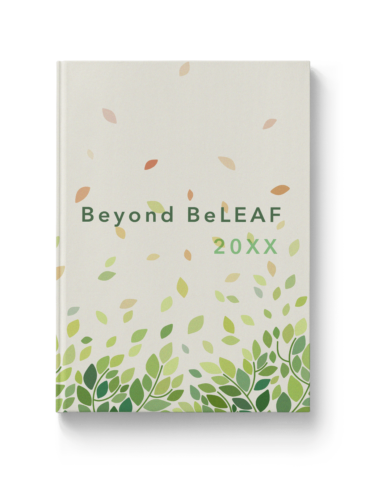 Nature-based illustrative yearbook theme for green schools