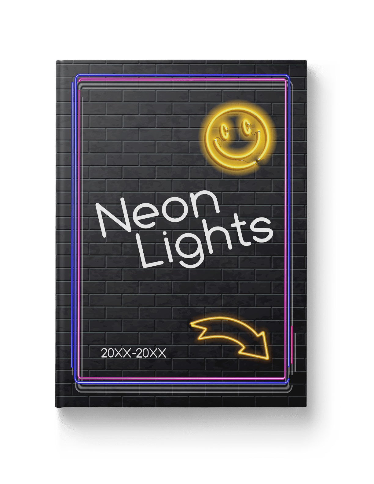 Neon emojis for yearbook theme