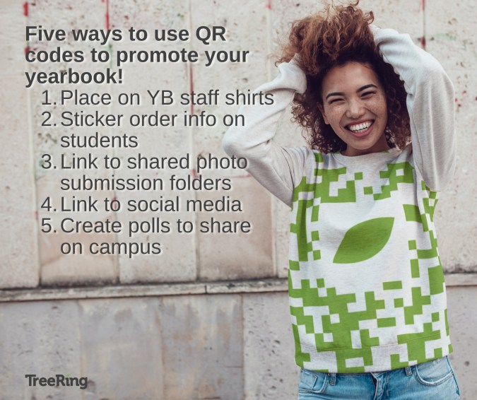 Five ways to use QR codes to promote and sell more yearbooks