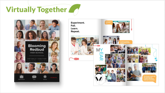 Virtually Together Yearbook Theme