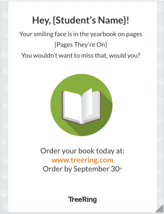 Yearbook Order Deadline Flyer