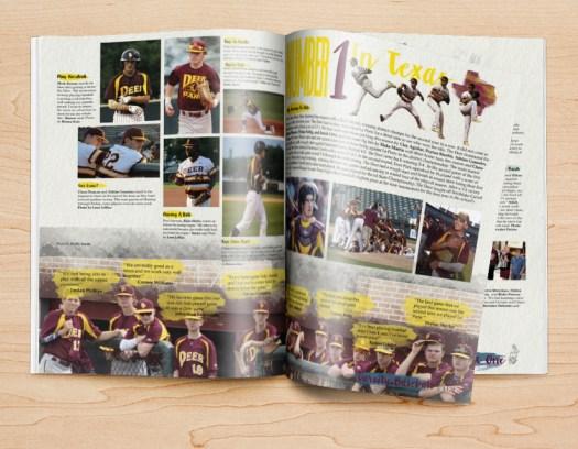 Jahrbuch-Design-Ideen für Sport-Seiten