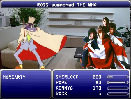 ROSS summoned THE WHO