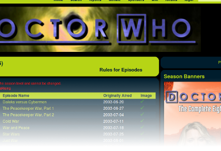TheTVDB Doctor Who