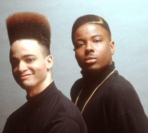 I realize that if you did not recognize him before, you probably aren't the sort of person who'd recognize early '90s rap duo Kid 'n Play even in their classic 'dos, but at least I tried.