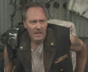 "Sorry, all wardrobe had left was ""Mad Max Villain"""