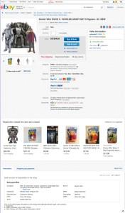 Doctor Who Cybermen EBay Listing