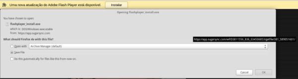 Figura 2: Requisição de download da ameaça pelo navegador