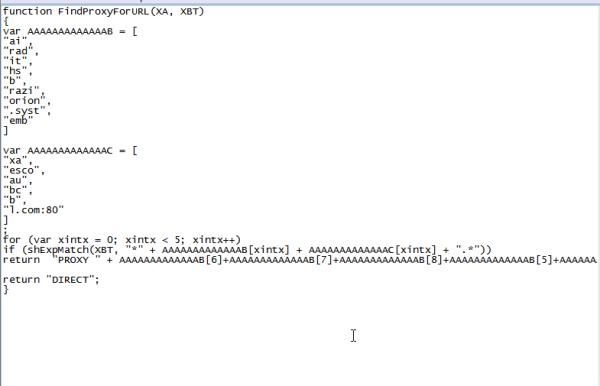 Figura 9: Código do arquivo PAC