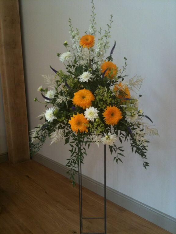 June 2015 - Yellow Wedding Arrangements (2)
